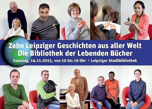 """""""10 Leipziger Geschichten aus aller Welt"""" mit Fotos der """"Bücher"""" aus dem Jahr 2015"""