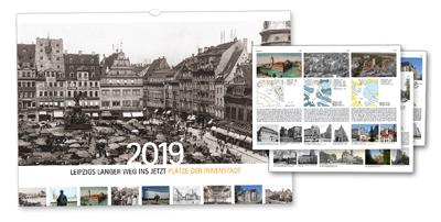 Titelbild mit Marktplatz und Beispielrückseiten mit Detailinfos