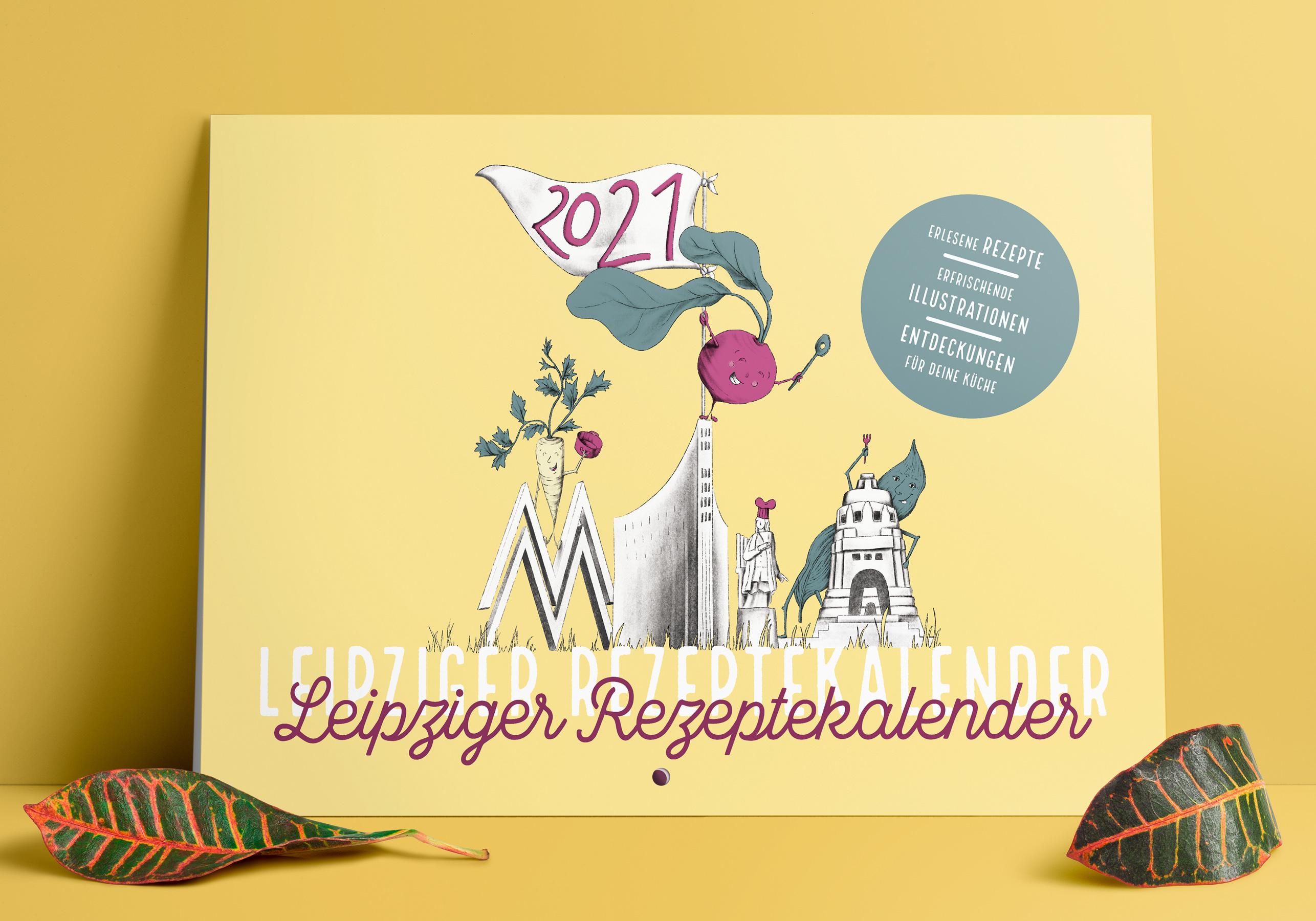 Deckblatt Leipziger Rezeptekalender 2021