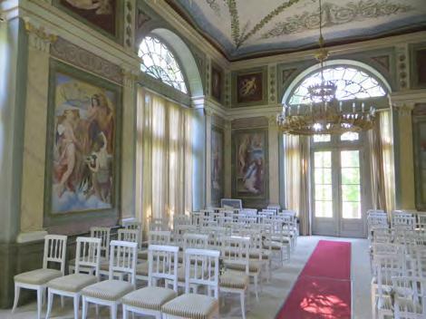 Innenansicht Klassizistischer Gartensalon in Rüdigsdorf