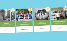 Screenshot von Penny-Website mit Bildern der vier Preisträger