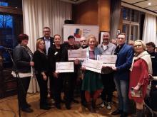 Spendenscheck-Übergabe AXA Regionalvertretung Plättner GmbH an Stiftung Bürger für Leipzig