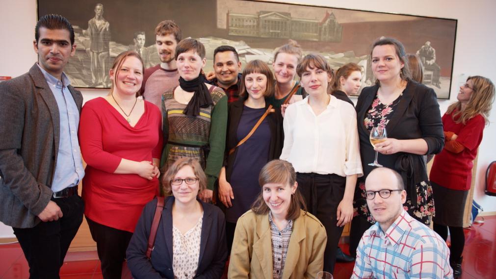 Gruppenbild mit den Preisträger/innen. Foto: Charlotte Sattler
