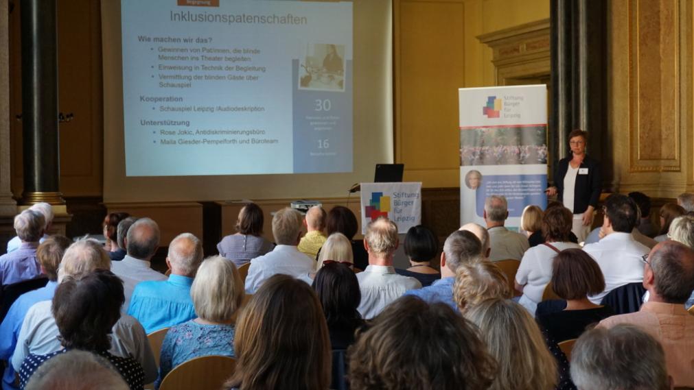 Stifterversammlung in der Aula der Volkshochschule Leipzig im Juni 2017