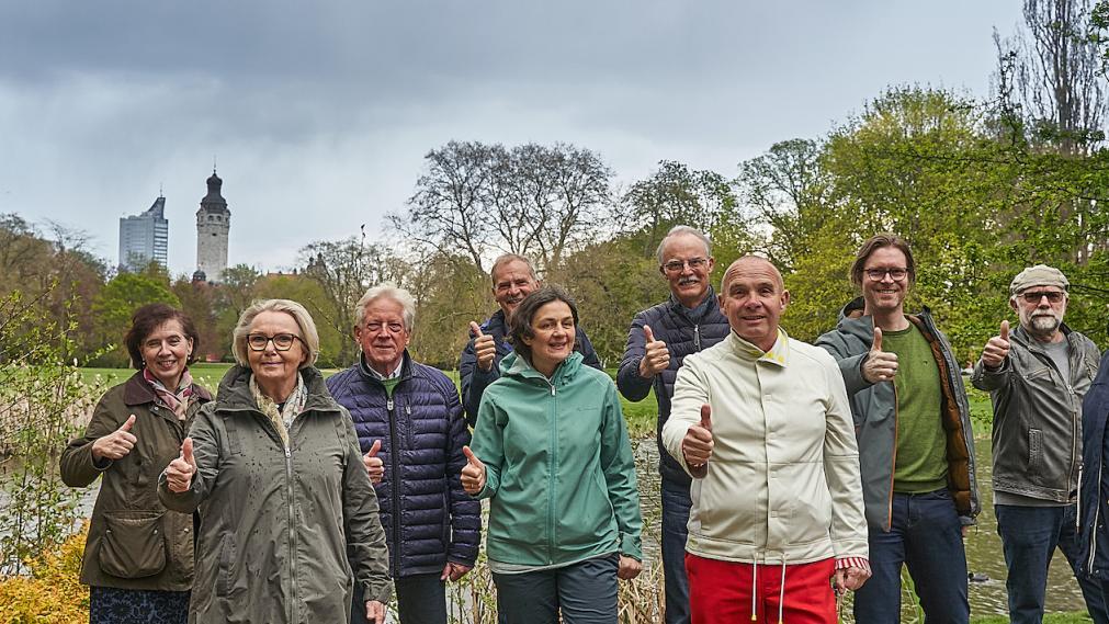 Der Stiftungsrat im Park