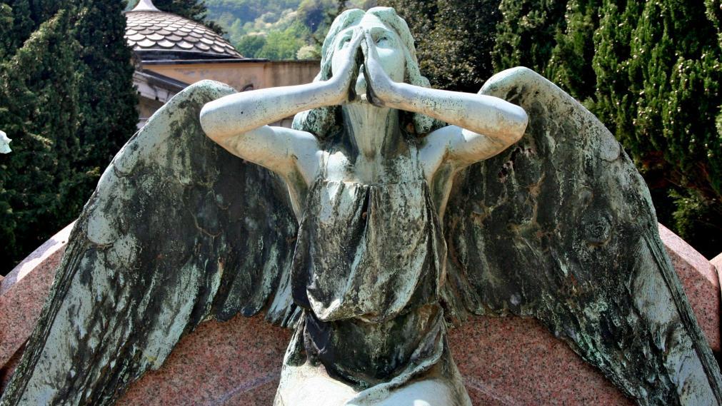 Statue auf dem ... Friedhof. Foto: Dagmar Franke
