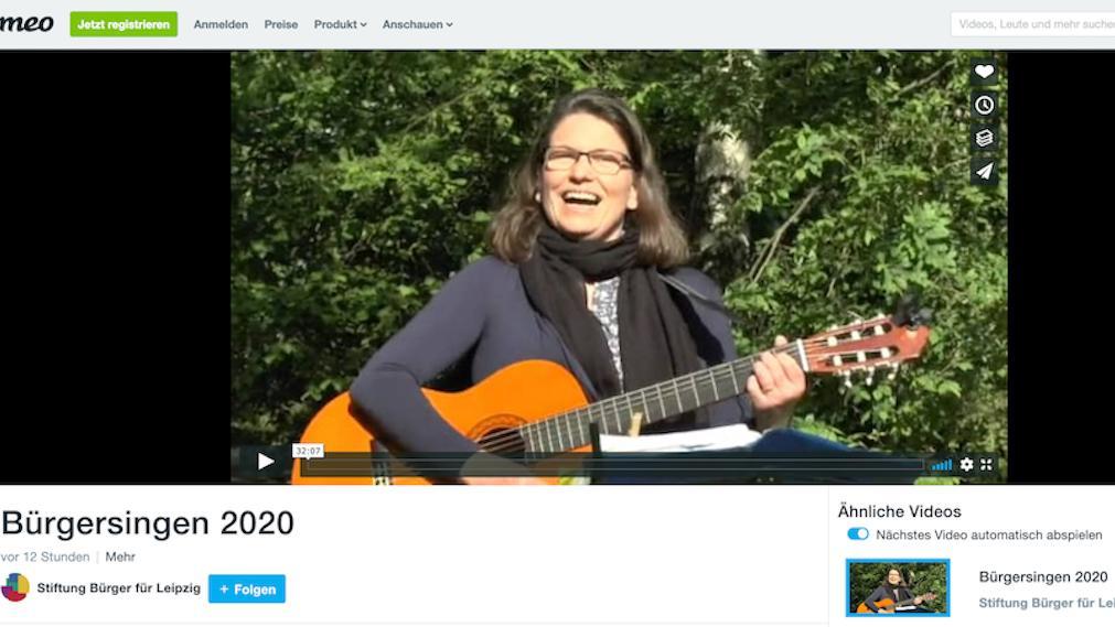 Bürgersingen-Video bei Vimeo - Screenshot