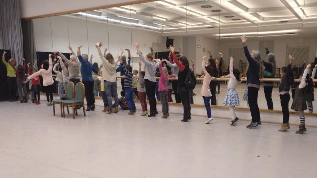 Wunderfinder und Paten beim Ballett an der Stange